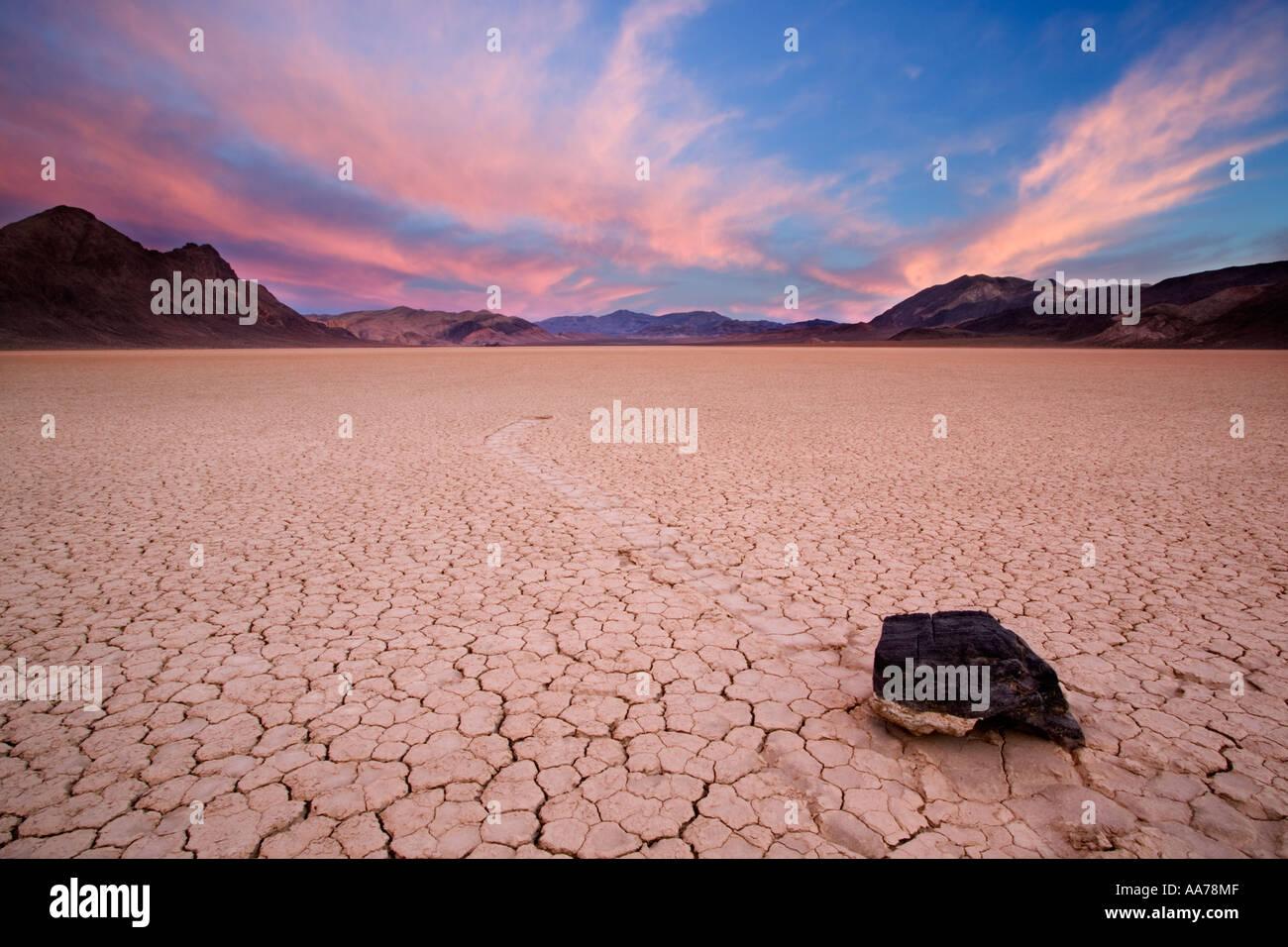 Racetrack Playa Death Valley Nationalpark Stockbild