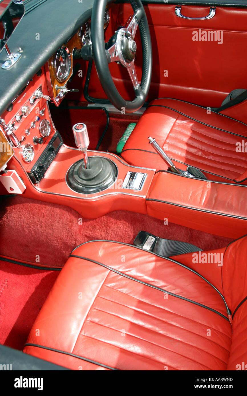 Austin Healey Rally Perranporth Cornwall UK Stockbild