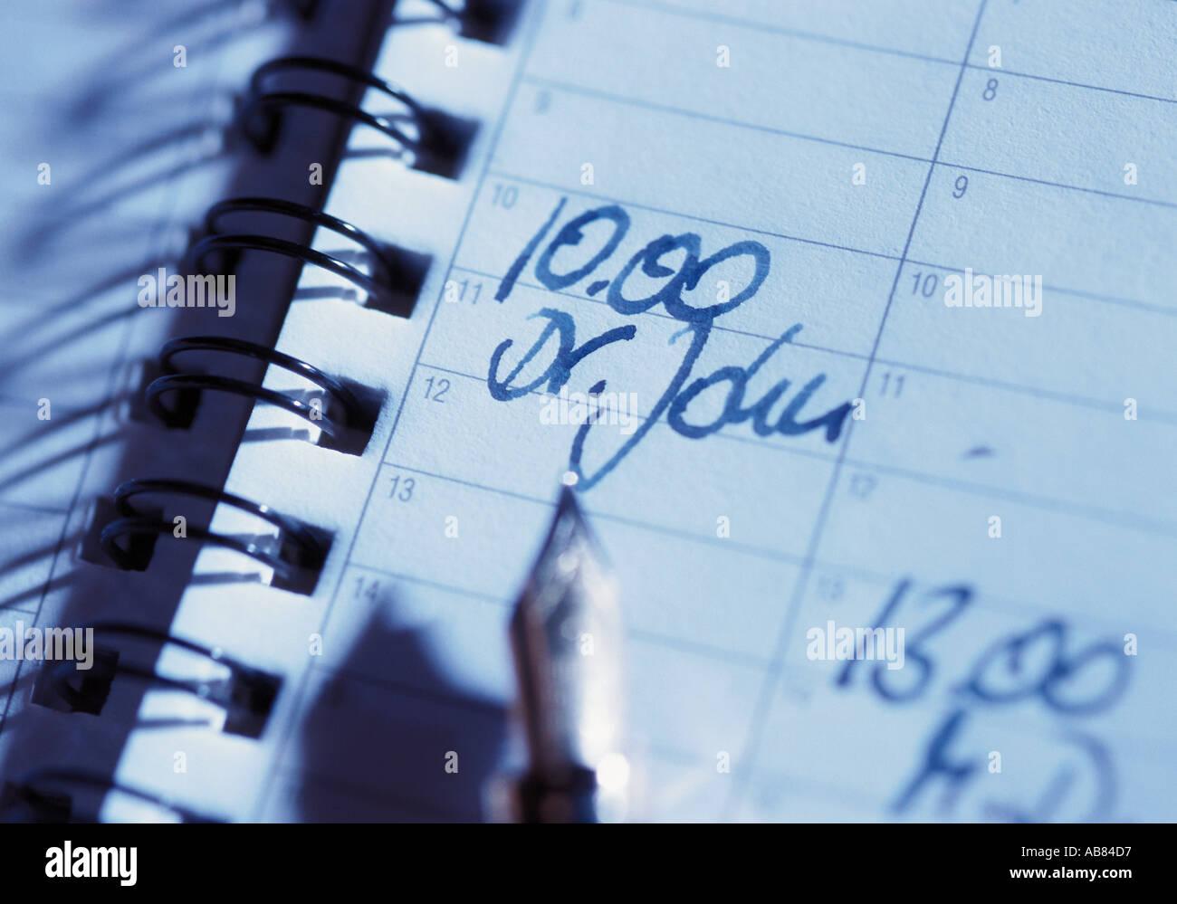 Tagebuch-Eintrag Stockbild