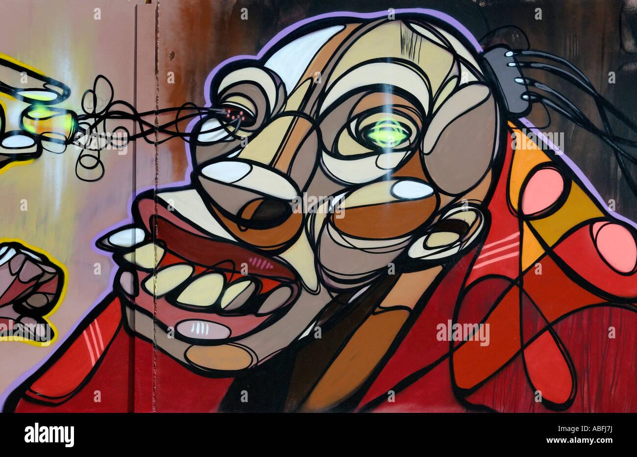 GRAFFITI-ILLUSTRATION Stockbild