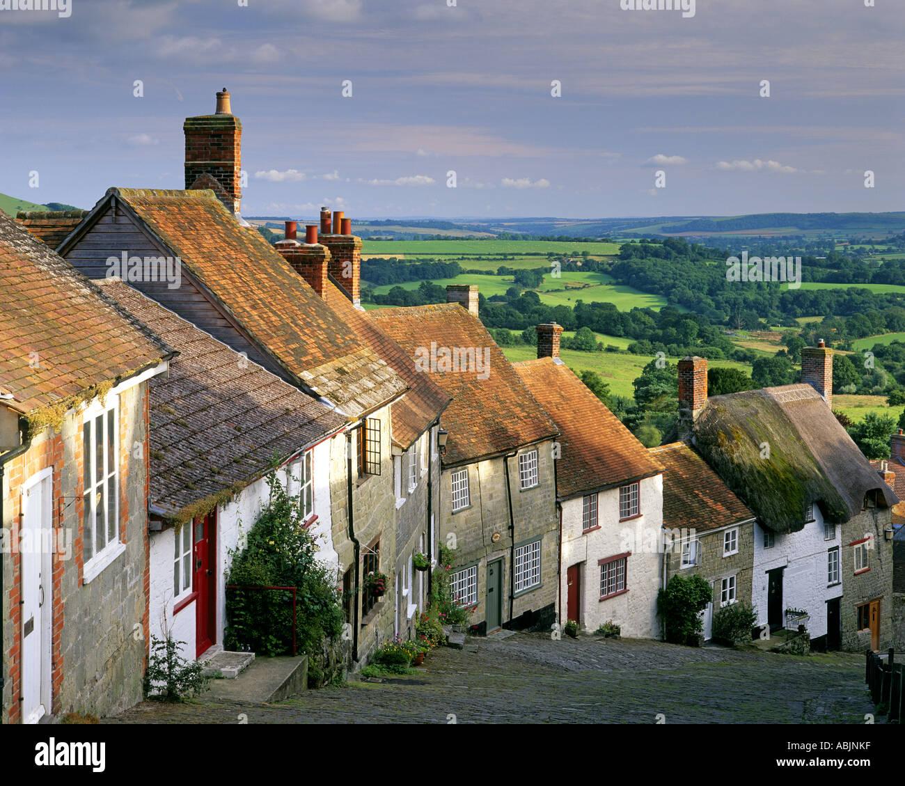 GB - DORSET: Gold Hill in Shaftesbury Stockbild