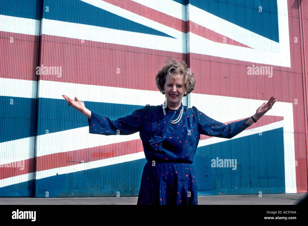 MARGARET THATCHER 1983 WAHLKAMPF Stockbild