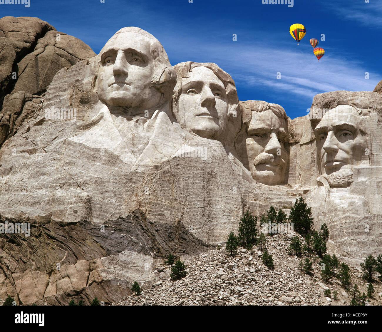 USA - SOUTH DAKOTA: Mount Rushmore National Memorial Stockbild