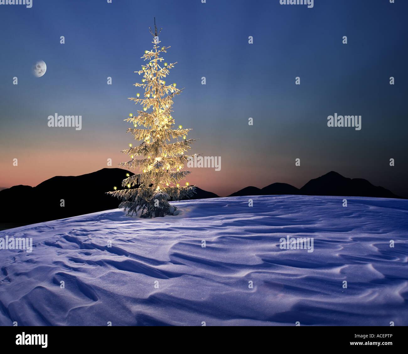 CH - ENGADIN: Alpine Weihnachtsszene Stockbild