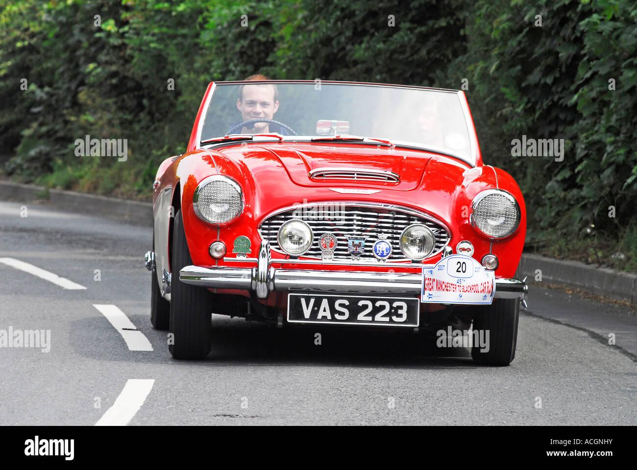 Die jährlichen Manchester Auto laufen durch den Lancashire Automobil Club organisiert nach Blackpool. 1960 Stockbild