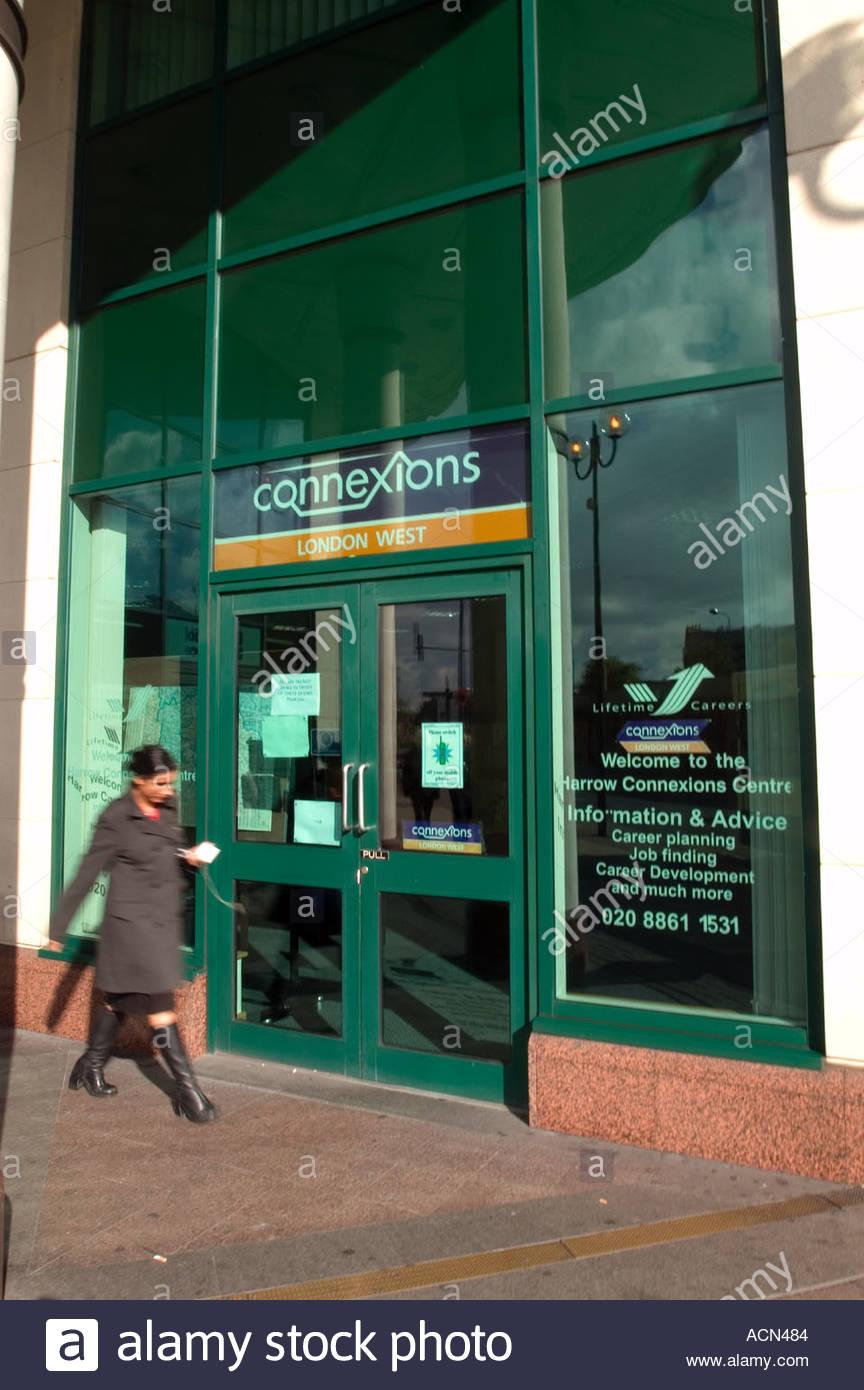 Connexions Büro College Road Egge UK Stockbild