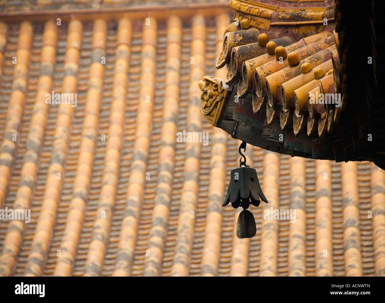 Bell und Dach eingehend Lama Tempel Yonghegong in Peking 2007 Stockfoto