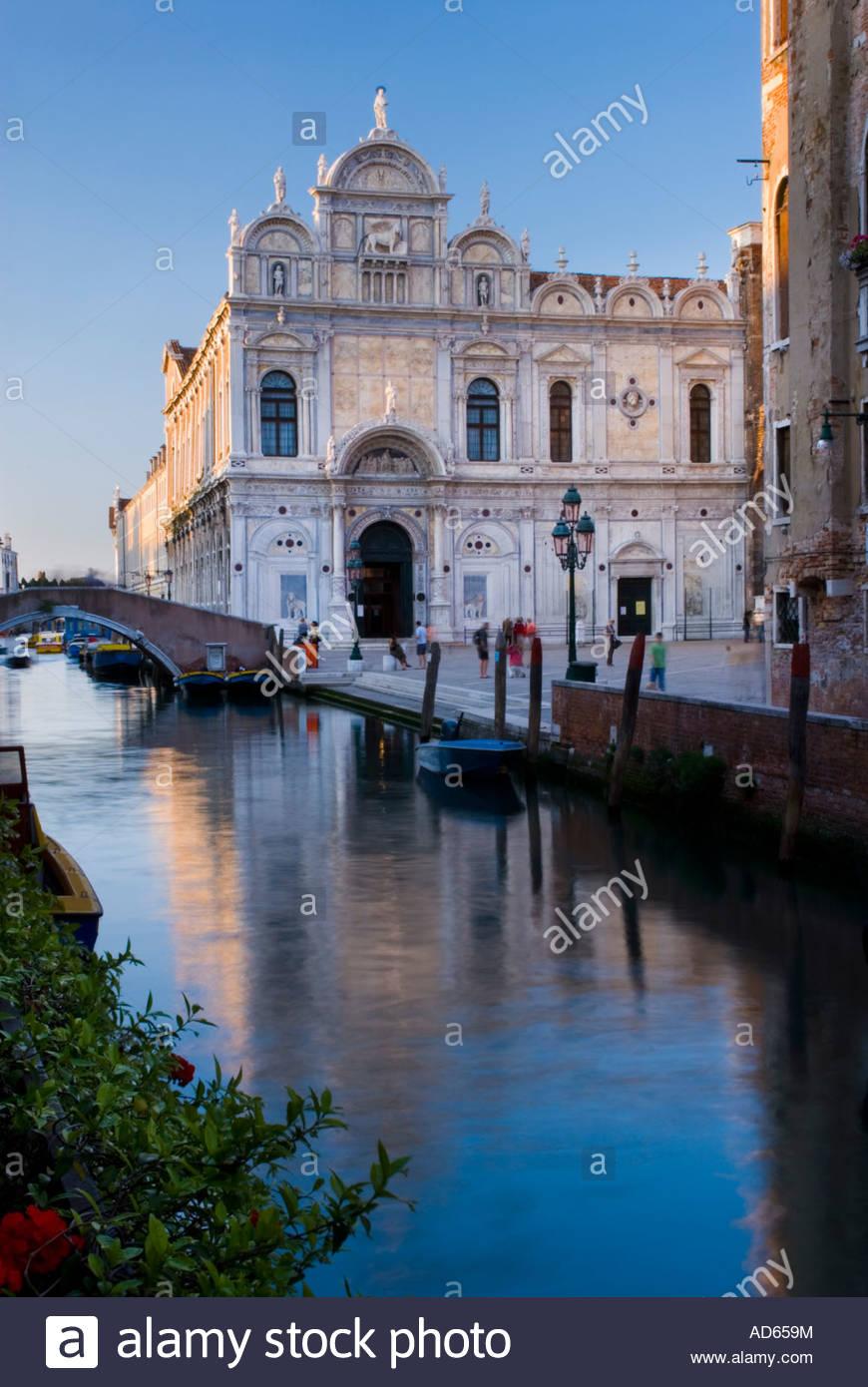 Die Scuola Grande di San Marco, Venedig, Italien Stockbild