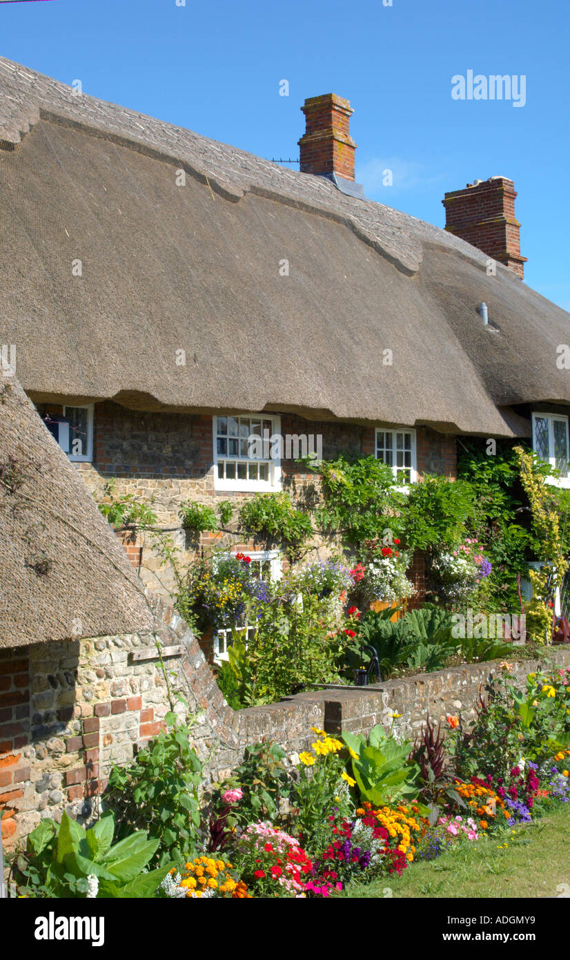Europa-Großbritannien-England Sussex Selsey Reetdachhaus Stockbild