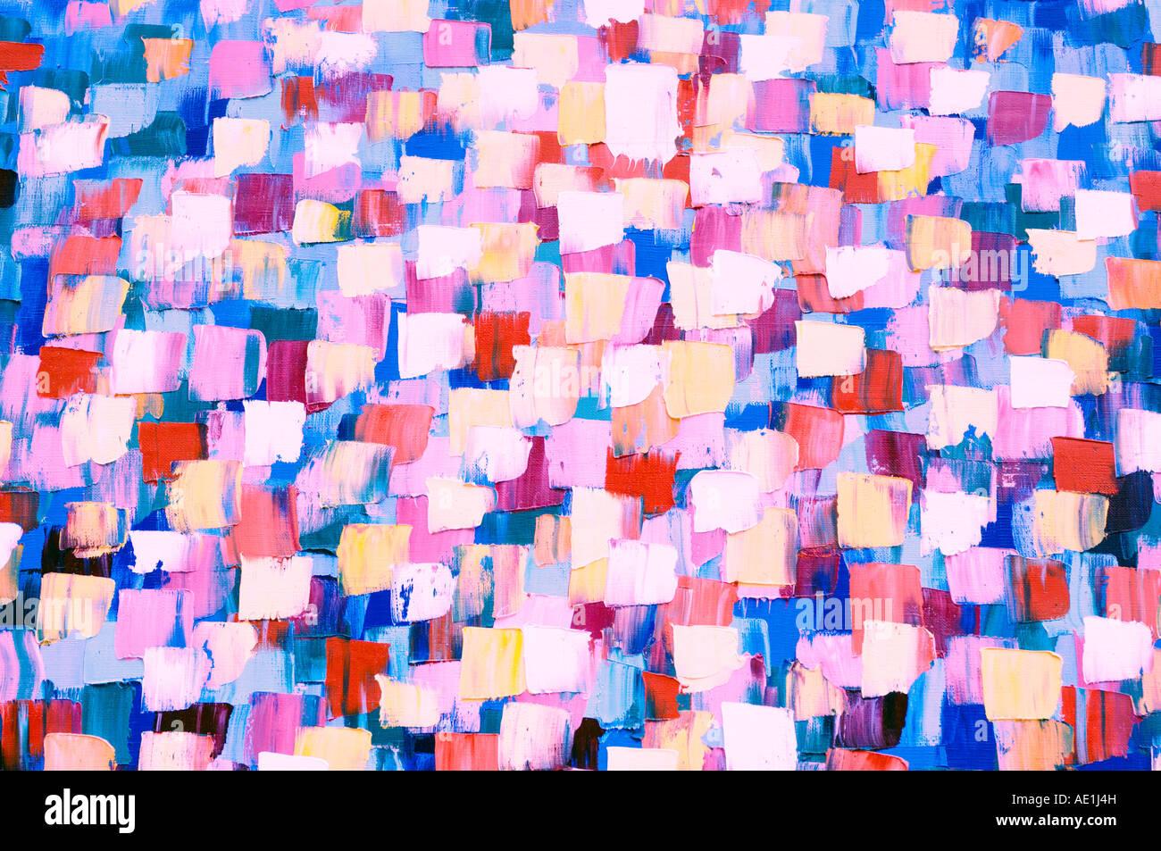 Abstrakte psychedelische Ölgemälde Stockbild