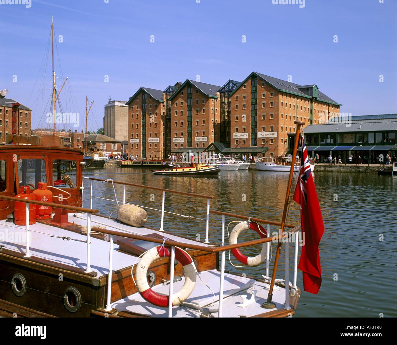 GB - GLOUCESTERSHIRE: Historische Gloucester Docks Stockbild