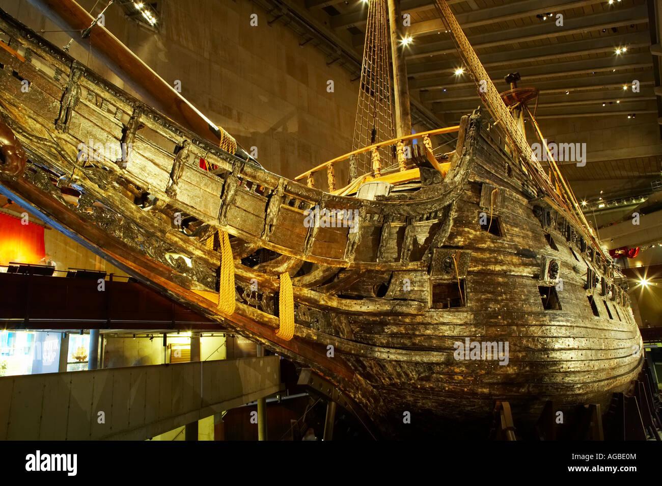 Kriegsschiff Vasa Museum Display, Stockholm, Schweden Stockbild