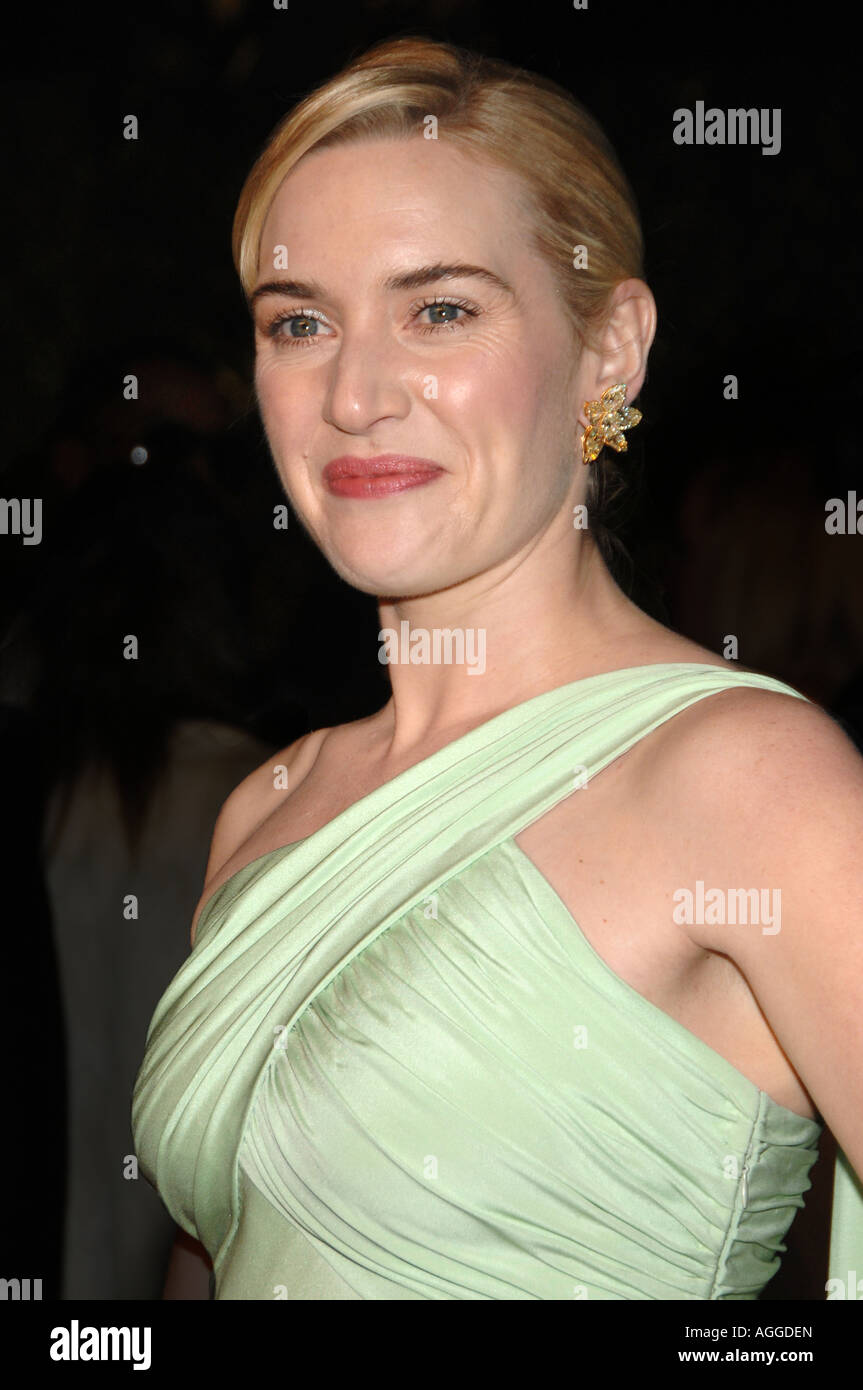 Schauspielerin Kate Winslet bei der 2007 Vanity Fair Oscar Party im Mortons Steakhouse in Los Angeles Kalifornien Stockbild