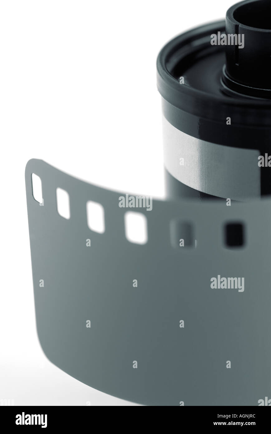 Filmrolle 35mm Kamera mit Führer Stockbild