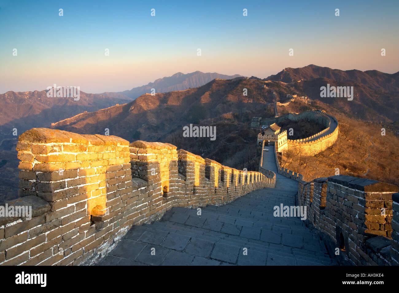 Die chinesische Mauer nahe Peking Stockbild