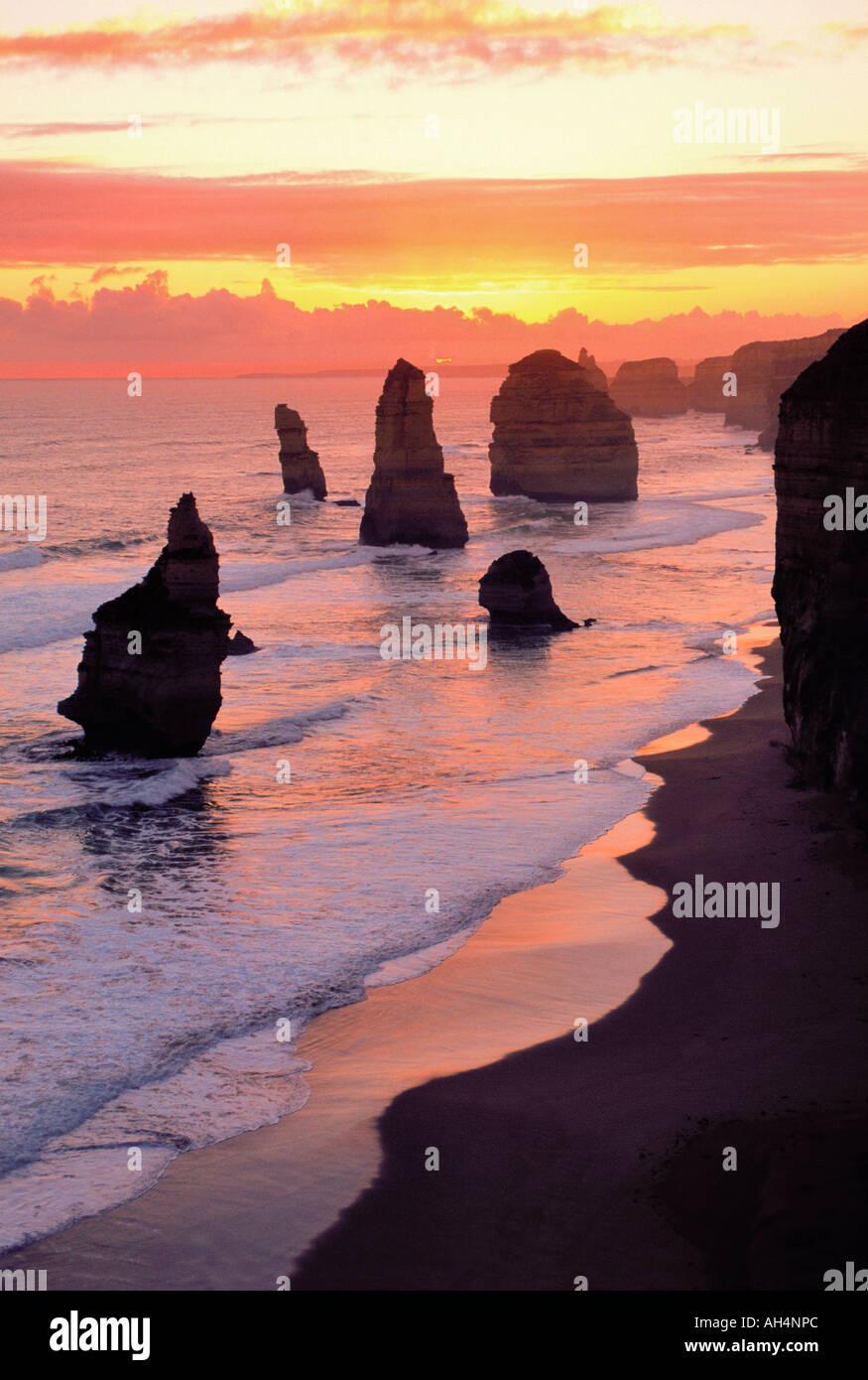 Die zwölf Apostel, Port Campbell National Park, Victoria, Australien Stockbild