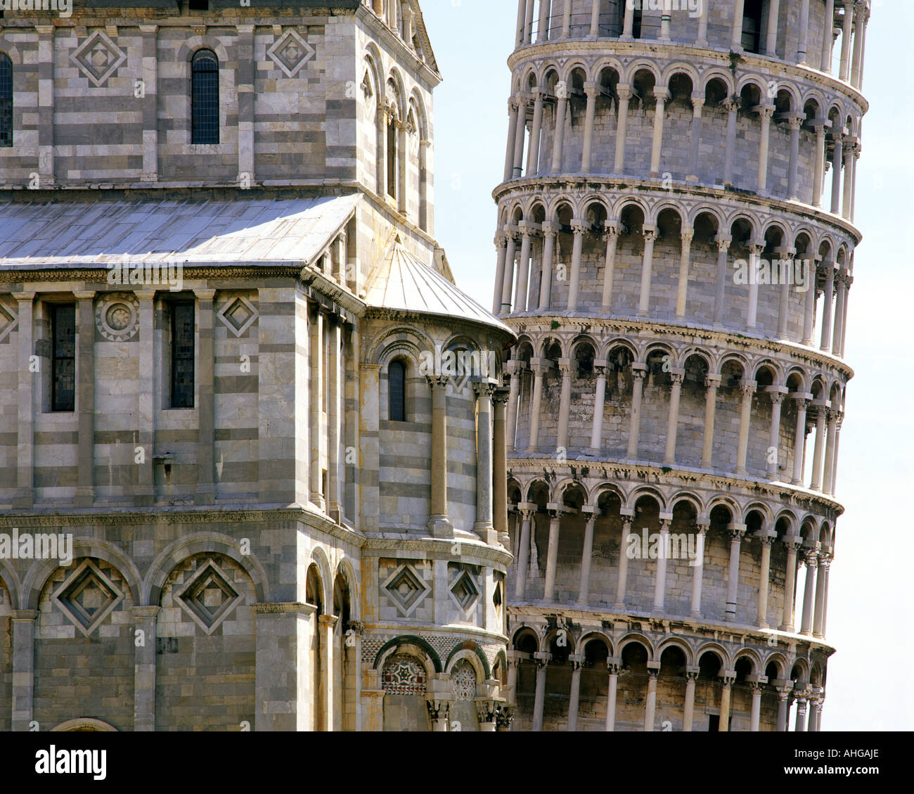 ES - TUSCANY: Schiefe Turm von Pisa Stockbild