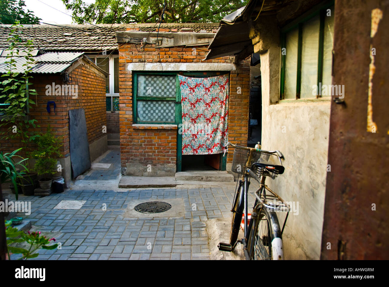"""Beijing CHINA, """"Alte Nachbarschaft"""" Hutong in der Nähe von """"Financial Street"""" """"Straßenszene"""" Stockbild"""