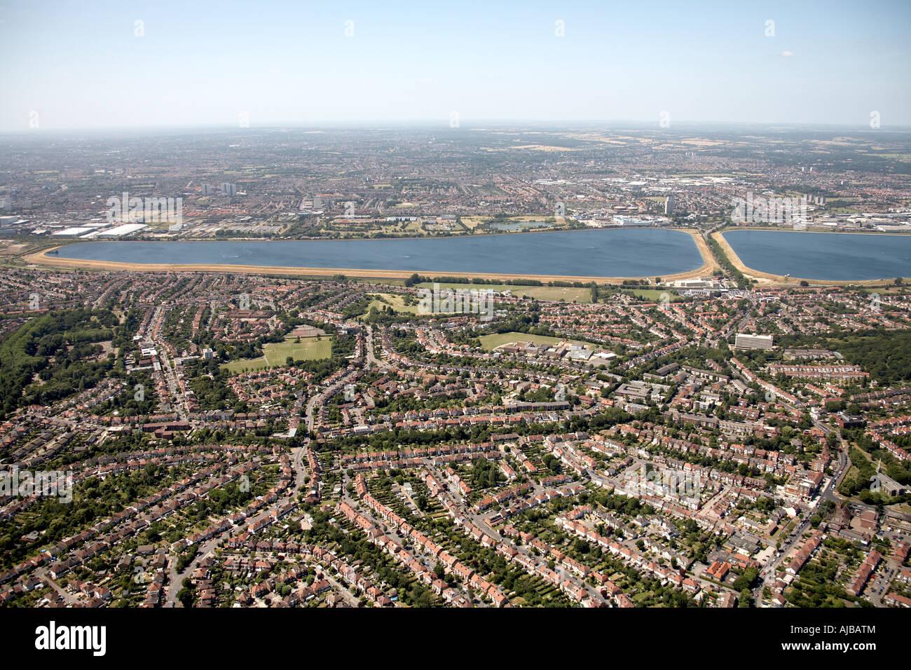 Luftbild Norden östlich von Chingford Ponders End William Girling Reservoir Waltham Wald London E4 N9 EN3 England Stockbild