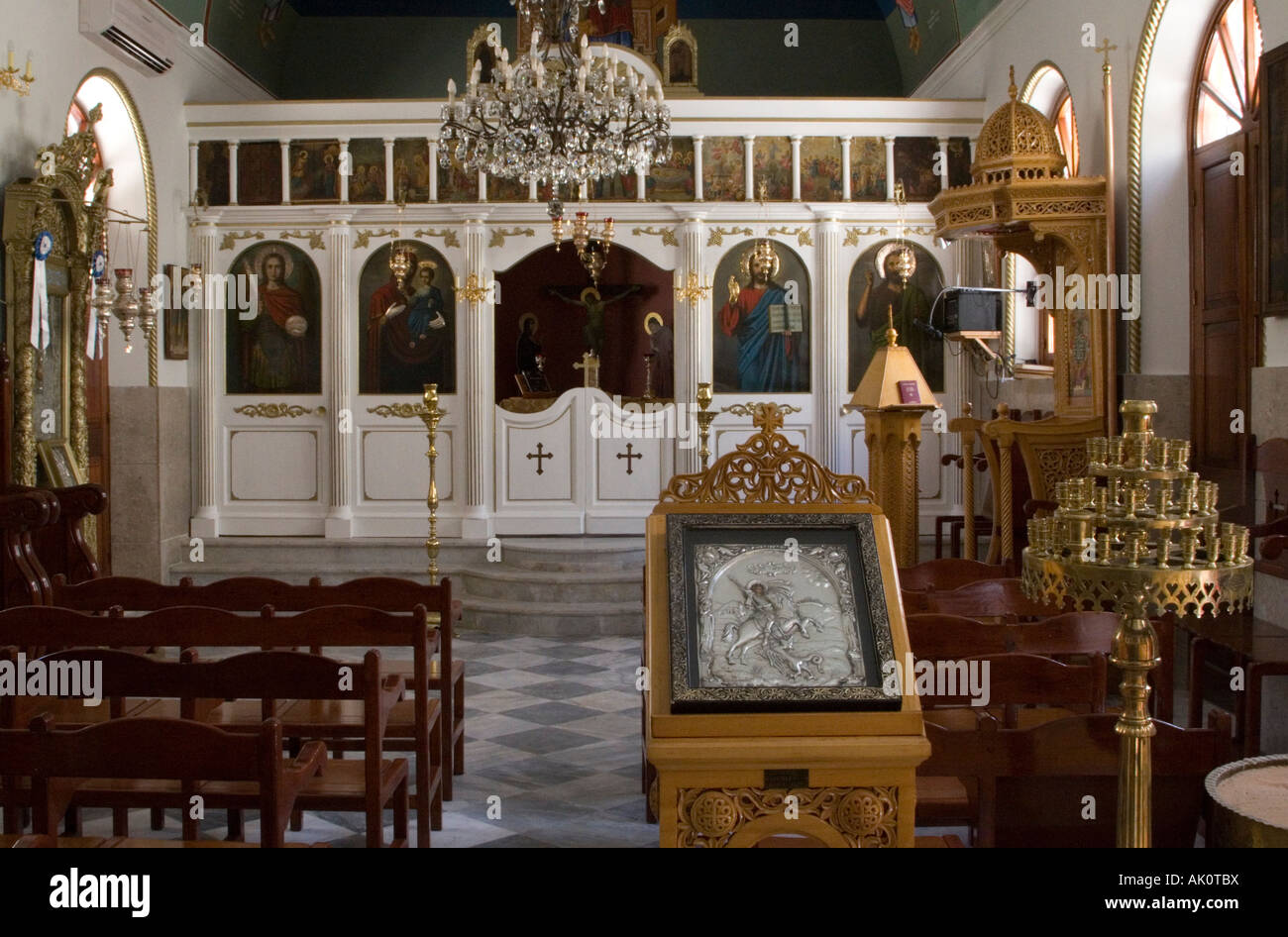 greek orthodox christianity icon saint stockfotos greek. Black Bedroom Furniture Sets. Home Design Ideas