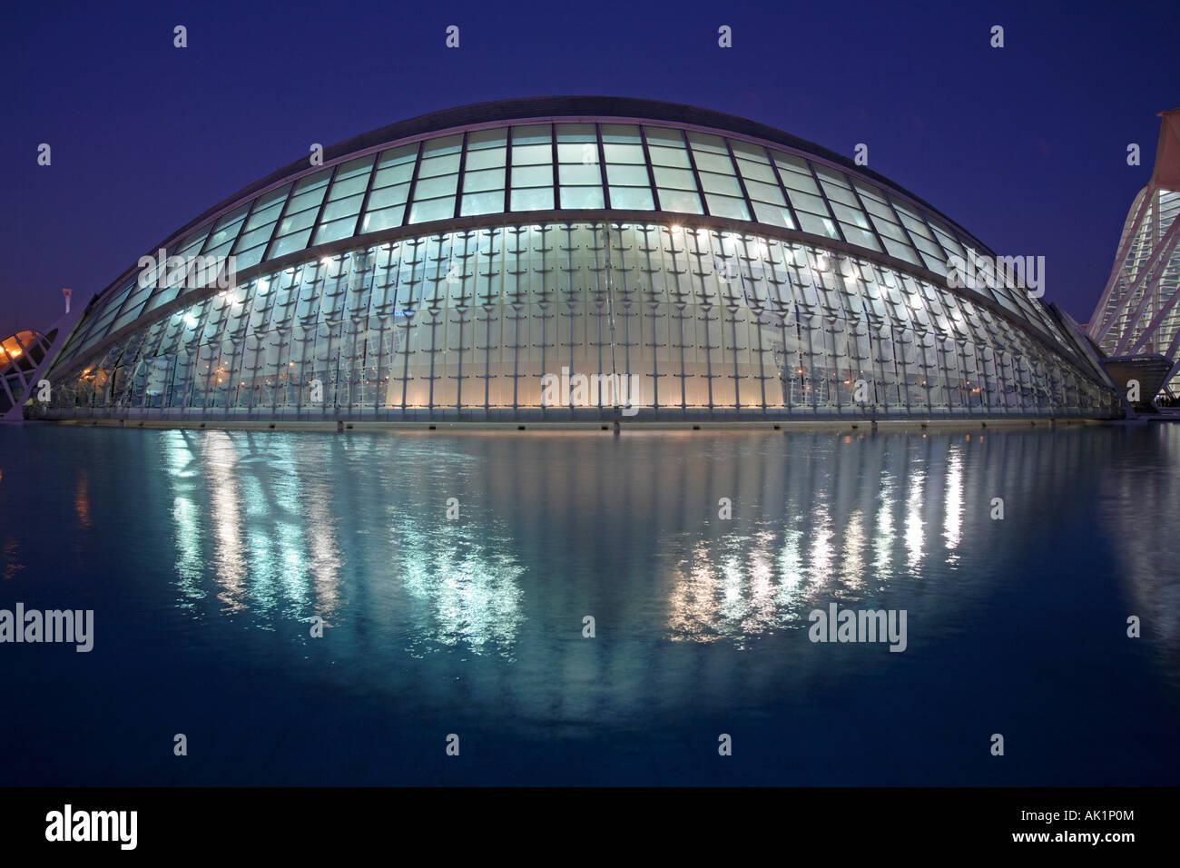 Hemisferic, Stadt der Künste und Wissenschaften, Valencia, Spanien Stockfoto