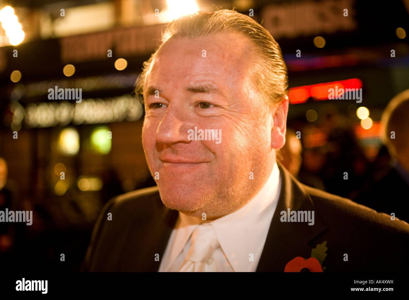 Beo Wulf - europäischer Film Premiere London Leicester Sqaure Darsteller Ray winstone Stockbild