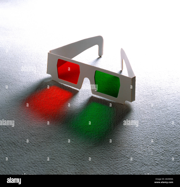Kino Film 3D-Brille auf strukturierten Hintergrund Stockbild