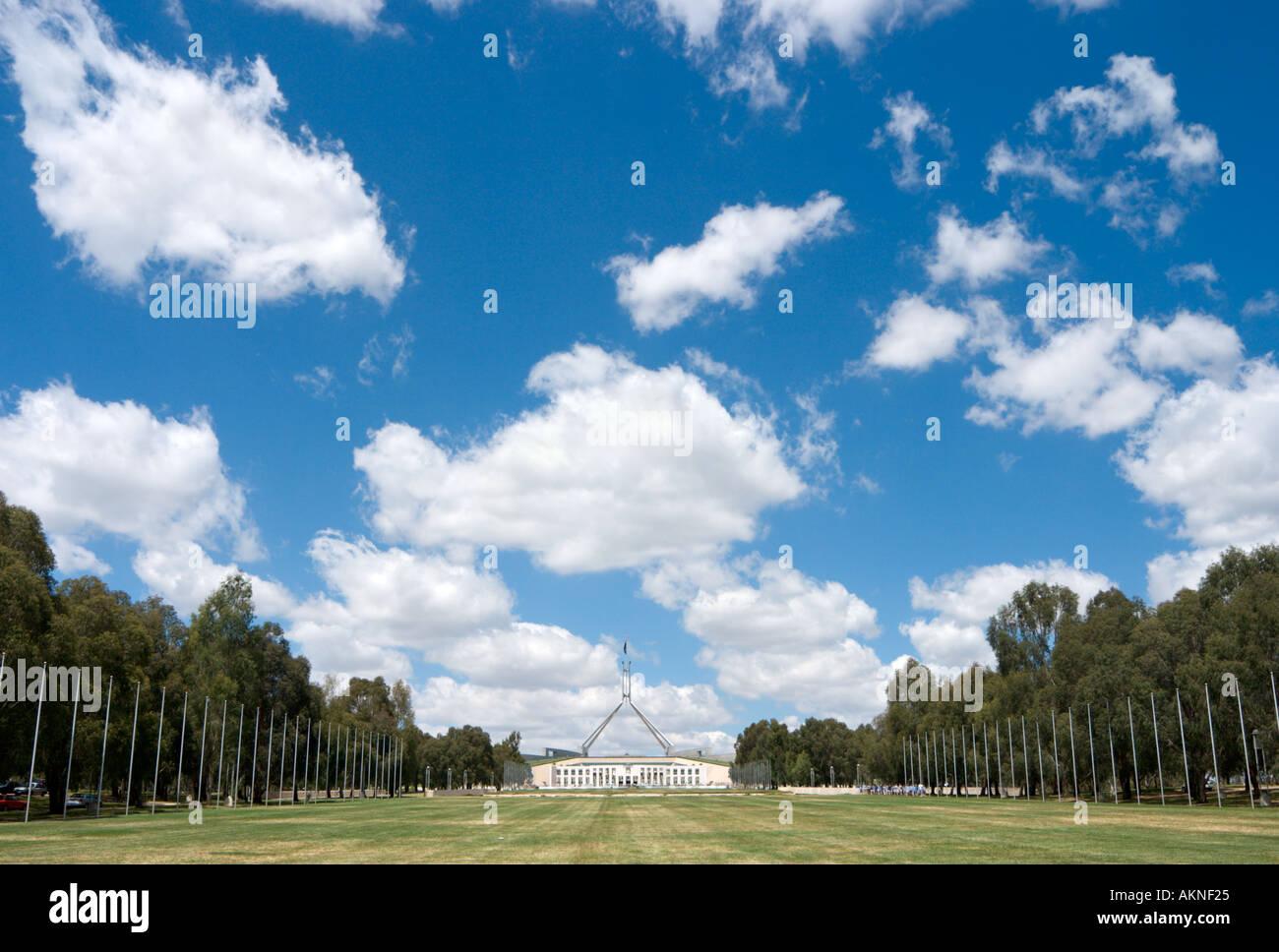 Parlament House, Canberra, Australian Capital Territory, Australien Stockbild