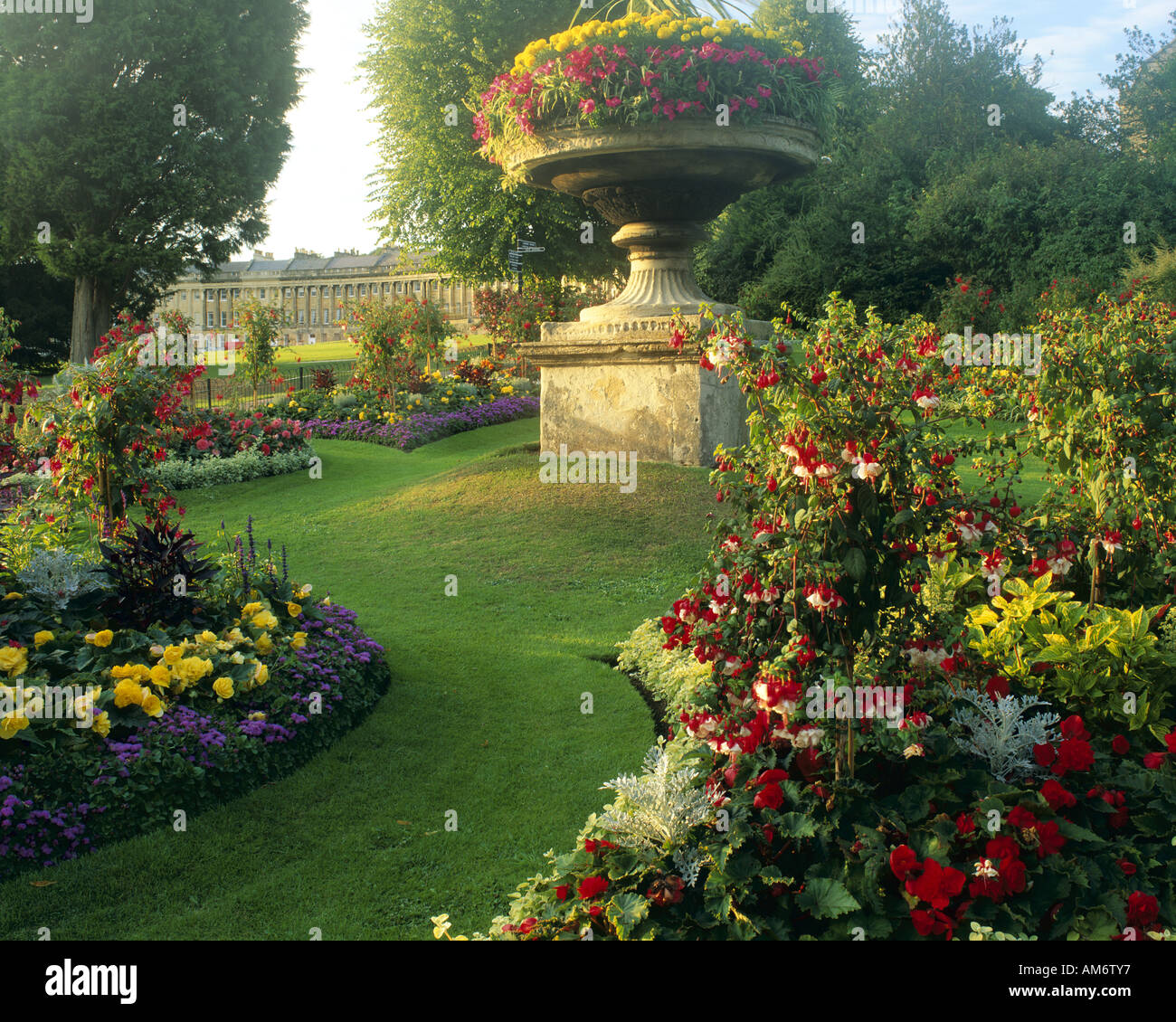 GB - SOMERSET: Royal Crescent in die Stadt Bath Stockbild