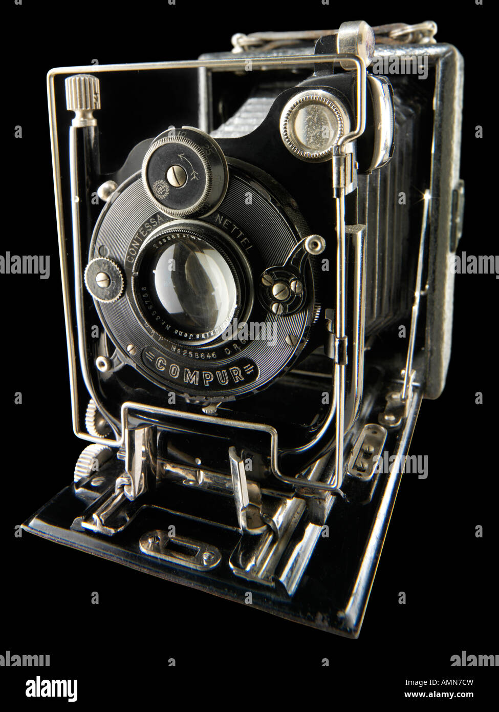 Zeiss Contessa Nettel Faltung Rollfilmkamera Stockbild