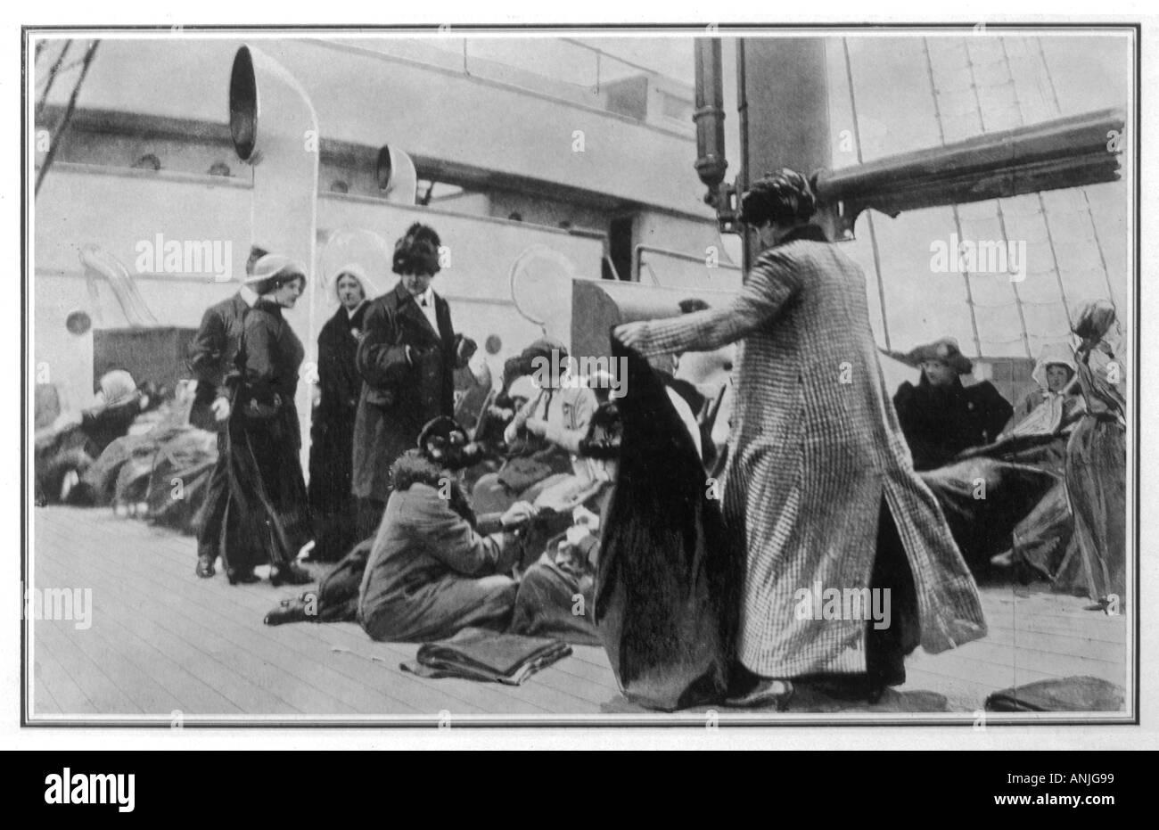Titanic-Überlebende Stockbild