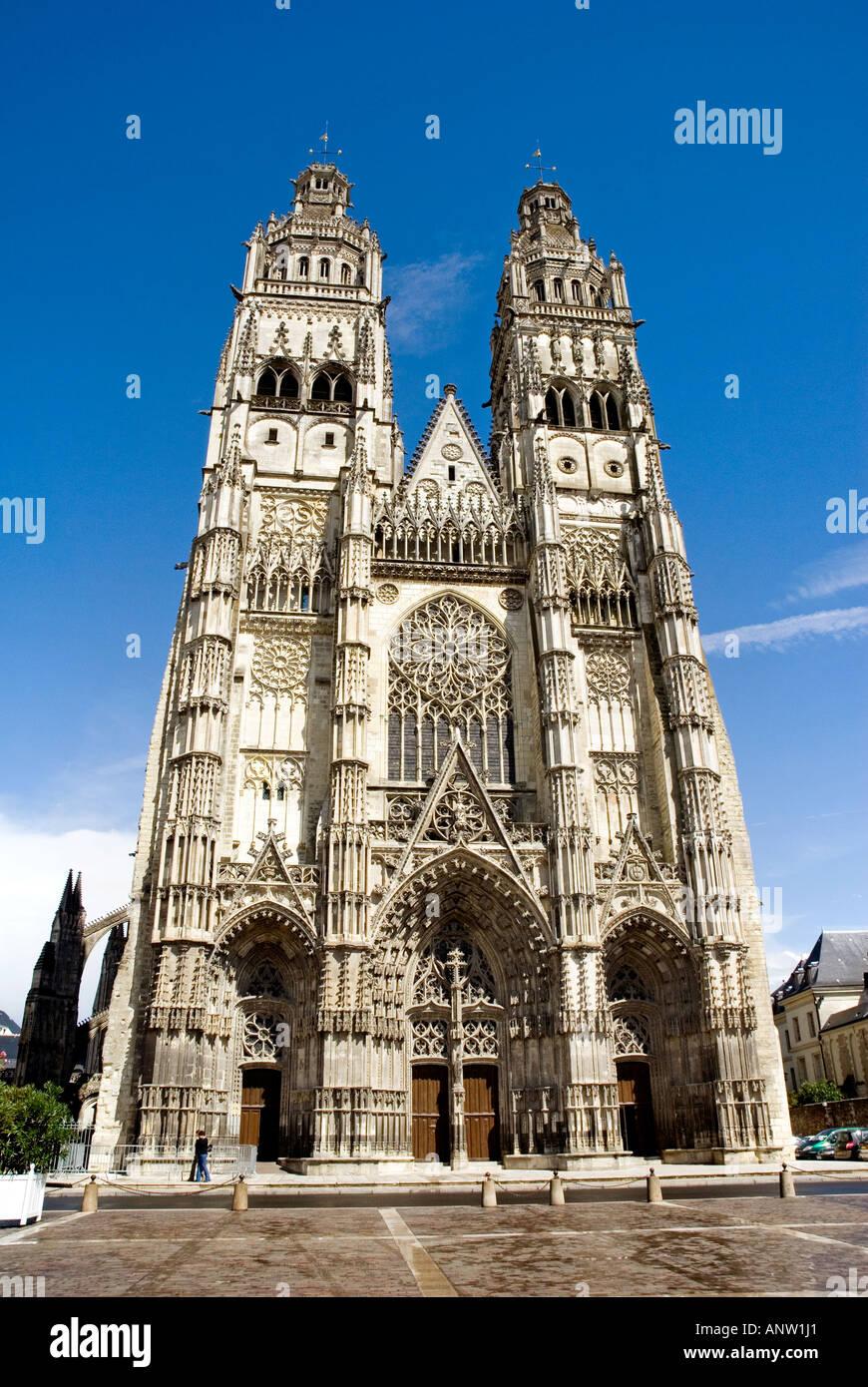 Kathedrale von Tours Stockbild