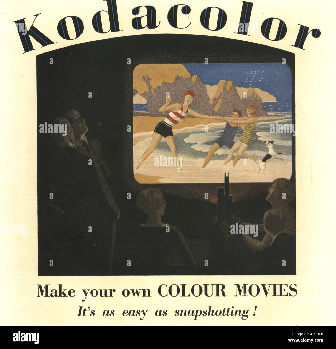 Kodacolor Werbung für Farbe Filme 1929 Stockbild