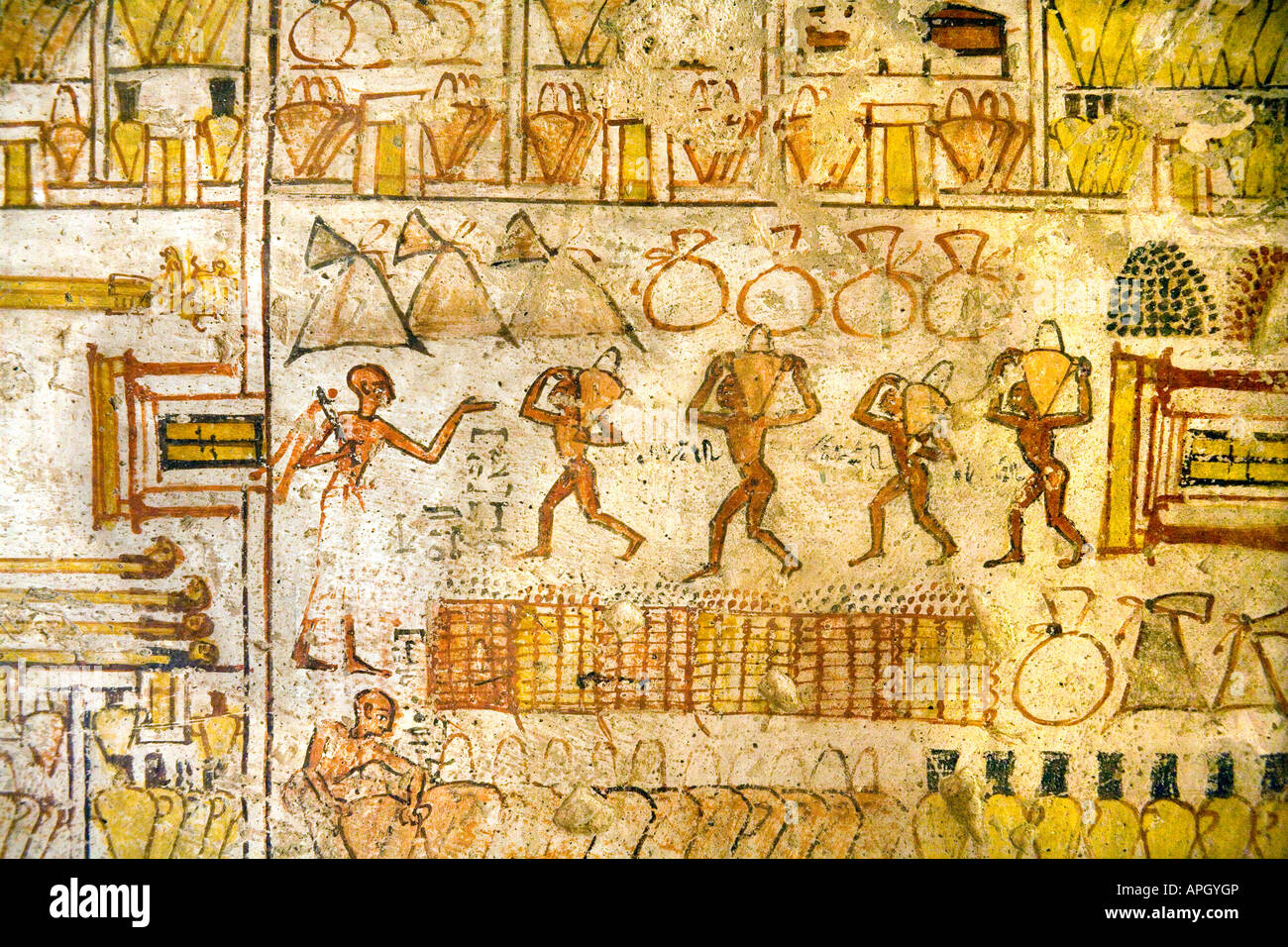 egyptian wall painting tomb stockfotos egyptian wall painting tomb bilder alamy. Black Bedroom Furniture Sets. Home Design Ideas