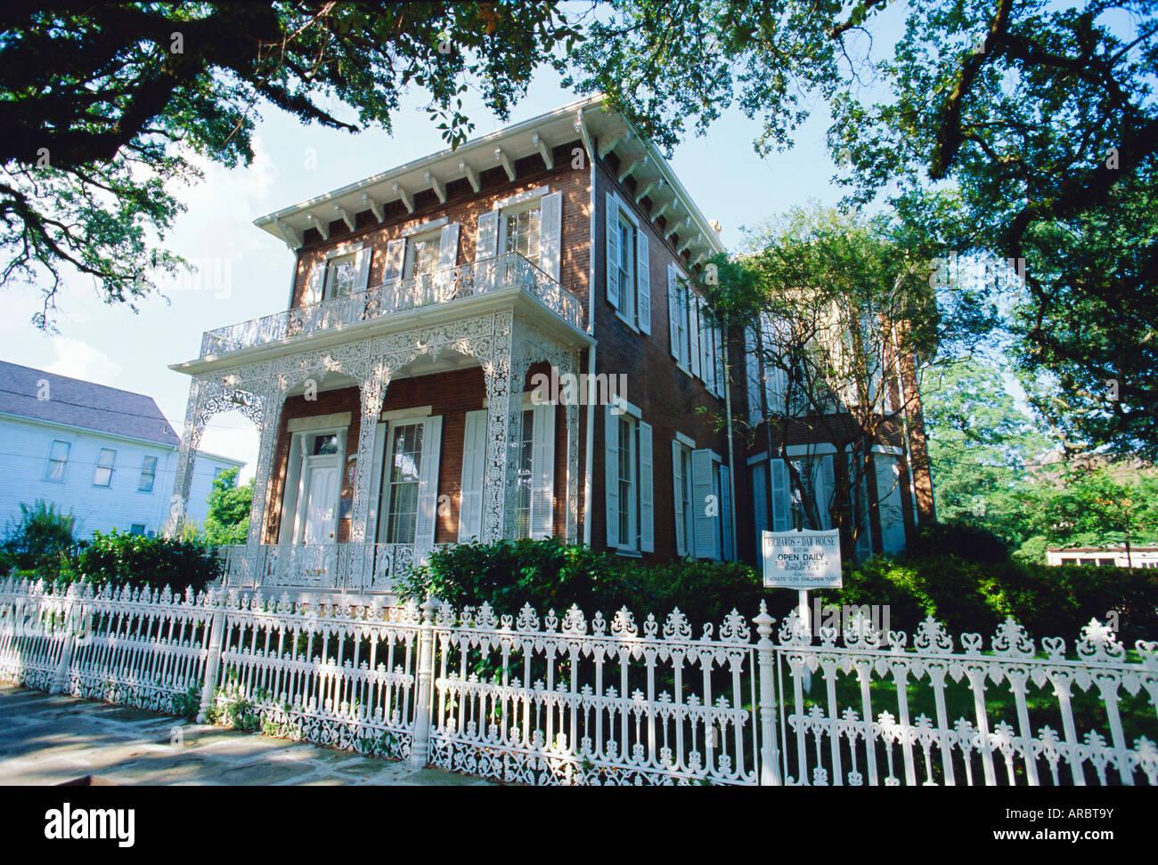 die 1860 richards dar haus heute ein museum italianate stil im historischen viertel der stadt. Black Bedroom Furniture Sets. Home Design Ideas