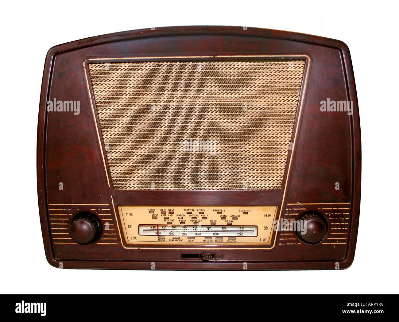 Radio der 1950er Jahre Stockbild