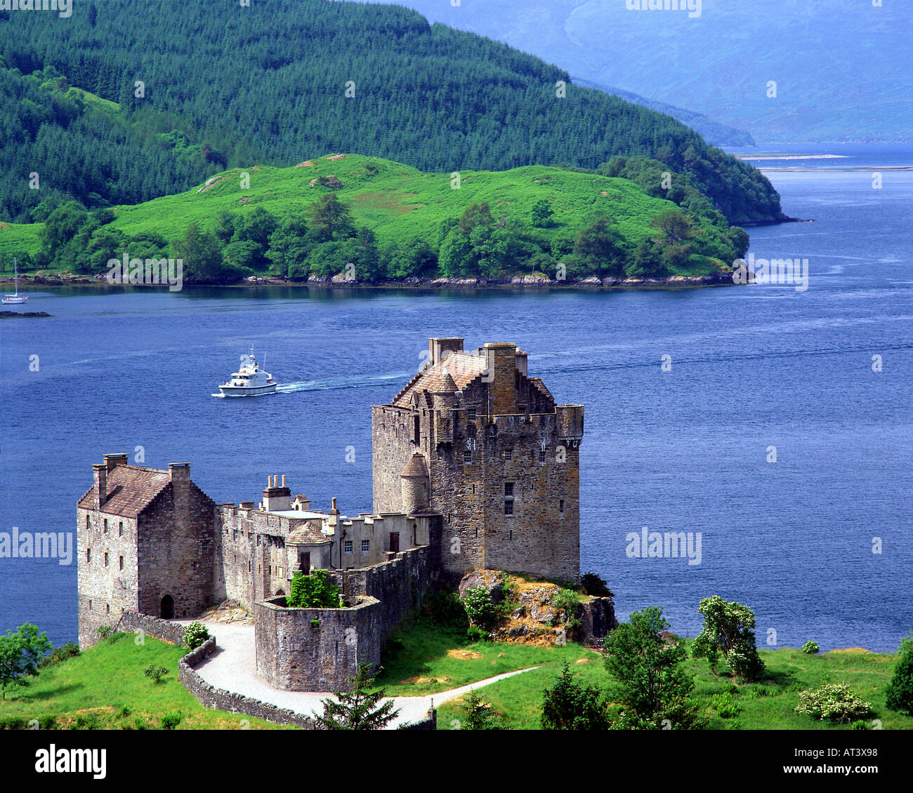 GB - SCHOTTLAND: Eilean Donan Castle in den Highlands Stockbild