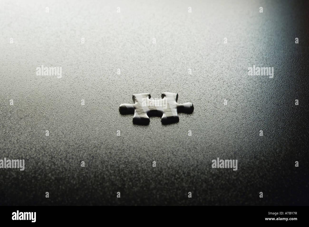 Puzzleteil, close-up Stockbild