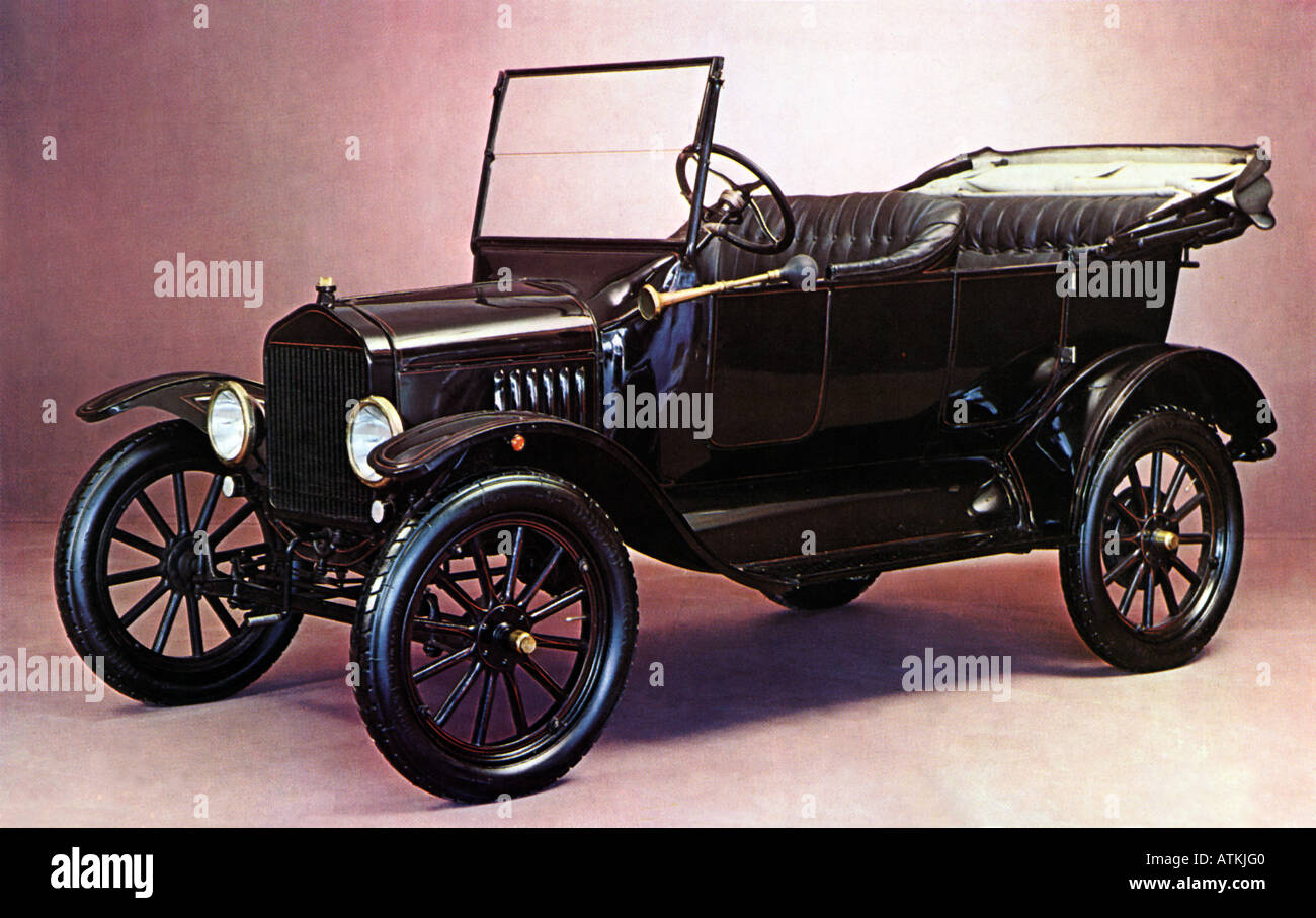 1922 von FORD T-Modell in der legendären schwarz Stockbild