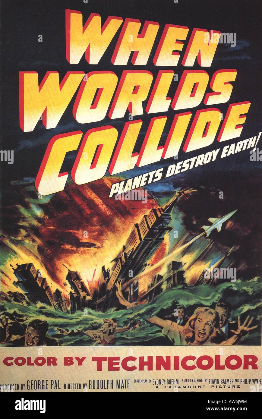 WHEN WORLDS COLLIDE Plakat für Paramount Flm 1951 Stockbild