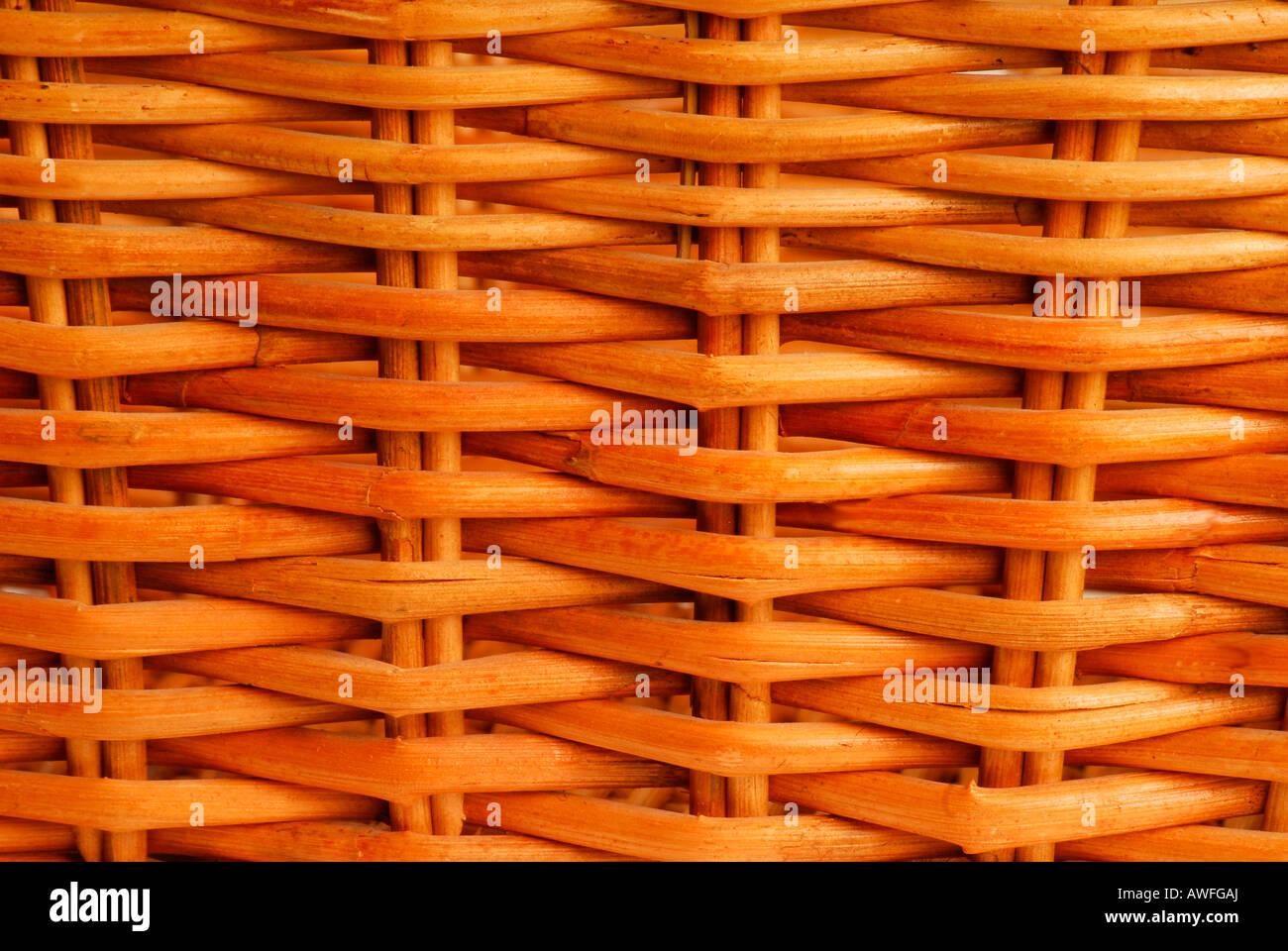 Weidenkorb Stockbild