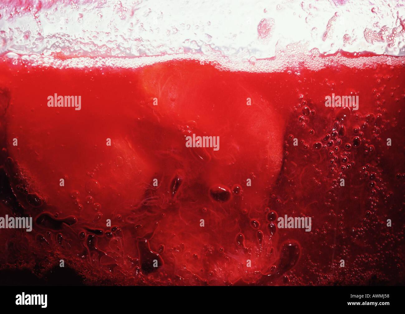 Pflaume Marmelade, extreme Nahaufnahme Stockfoto
