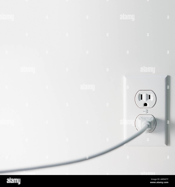 Elektrische Stecker und Steckdosen Stockbild