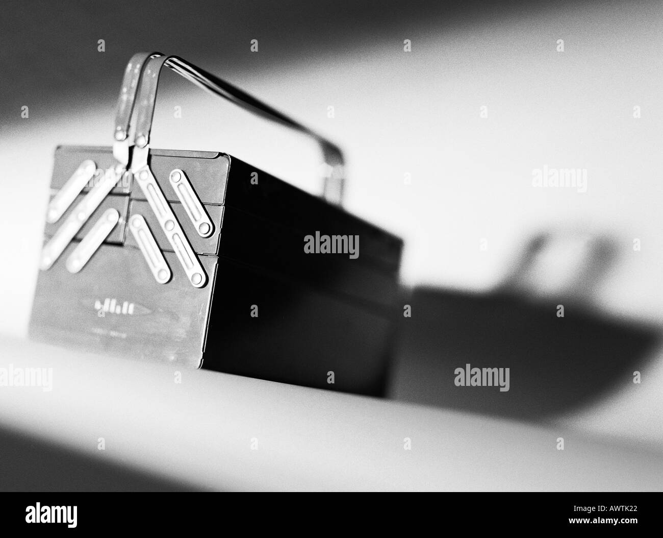 Tool-Box, close-up Stockbild