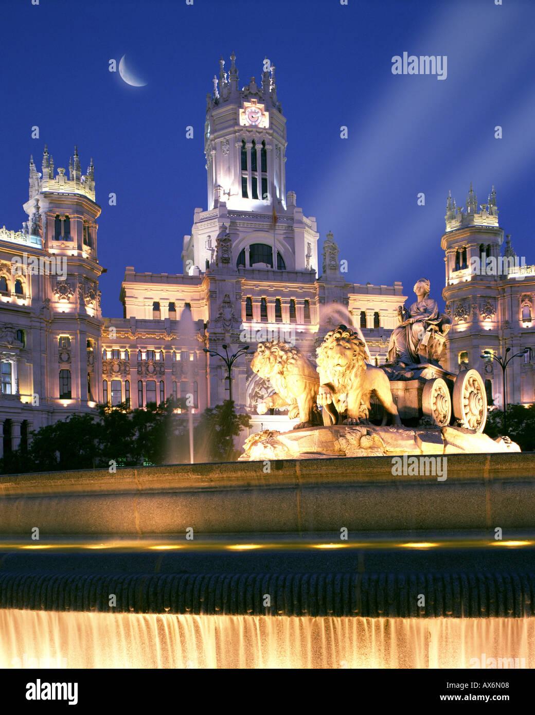 ES - MADRID: Plaza de Cibeles Stockbild