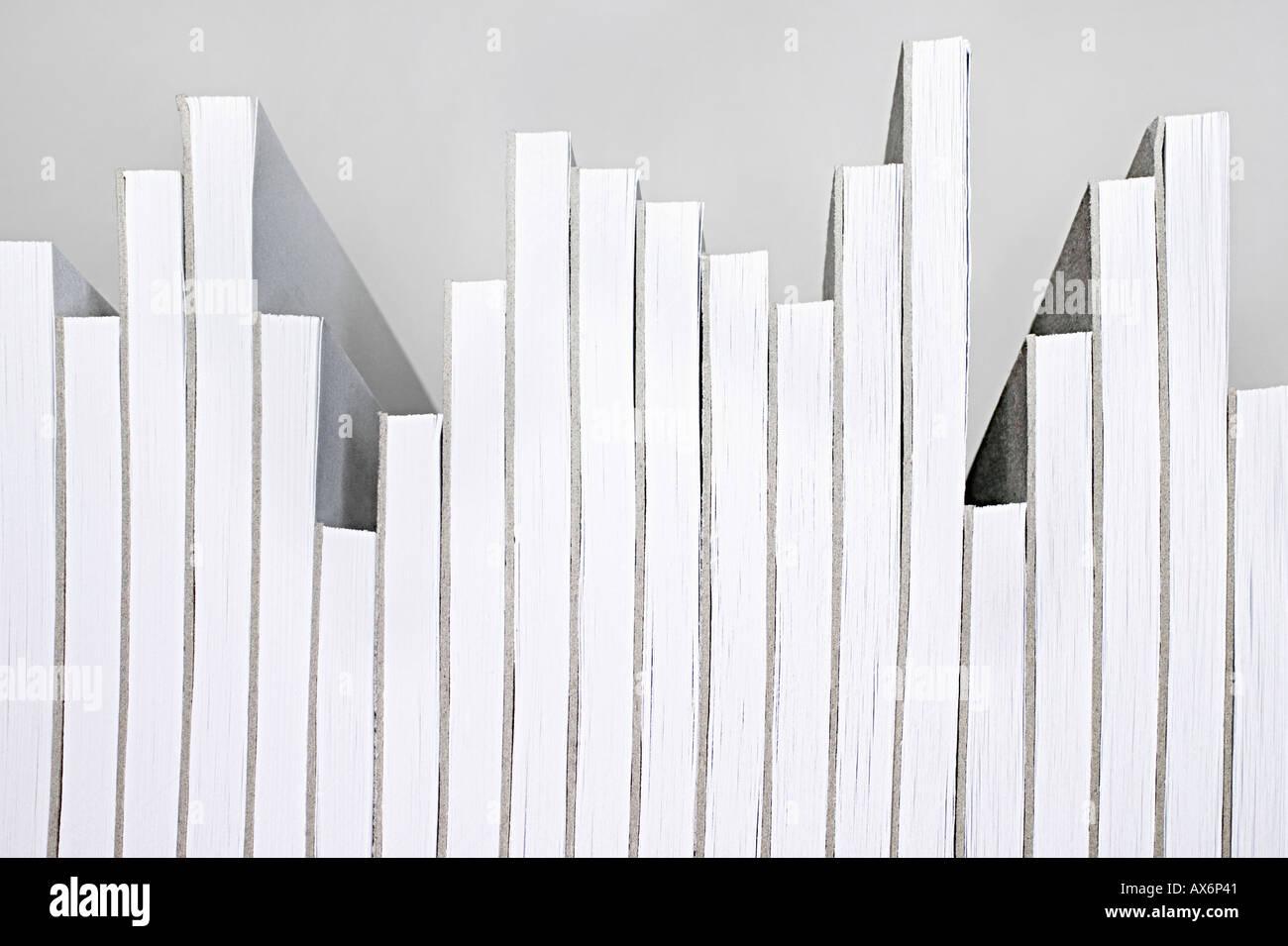 Notizblöcke arrangiert gerne ein Diagramm Stockbild