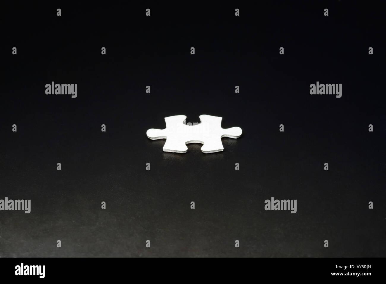 Jigsaw Puzzle-Stück, close-up Stockbild