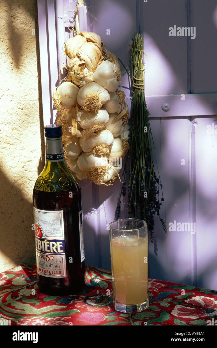 Essen und Trinken St. Remy de Provence Bouches du Rhone Frankreich Stockbild