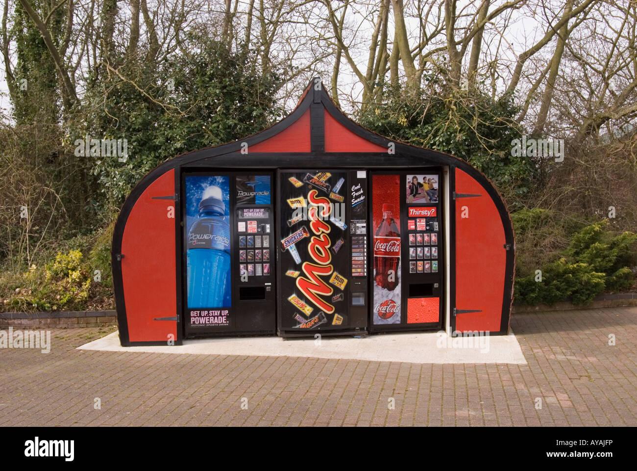 Essen und Getränke-Automaten Stockbild