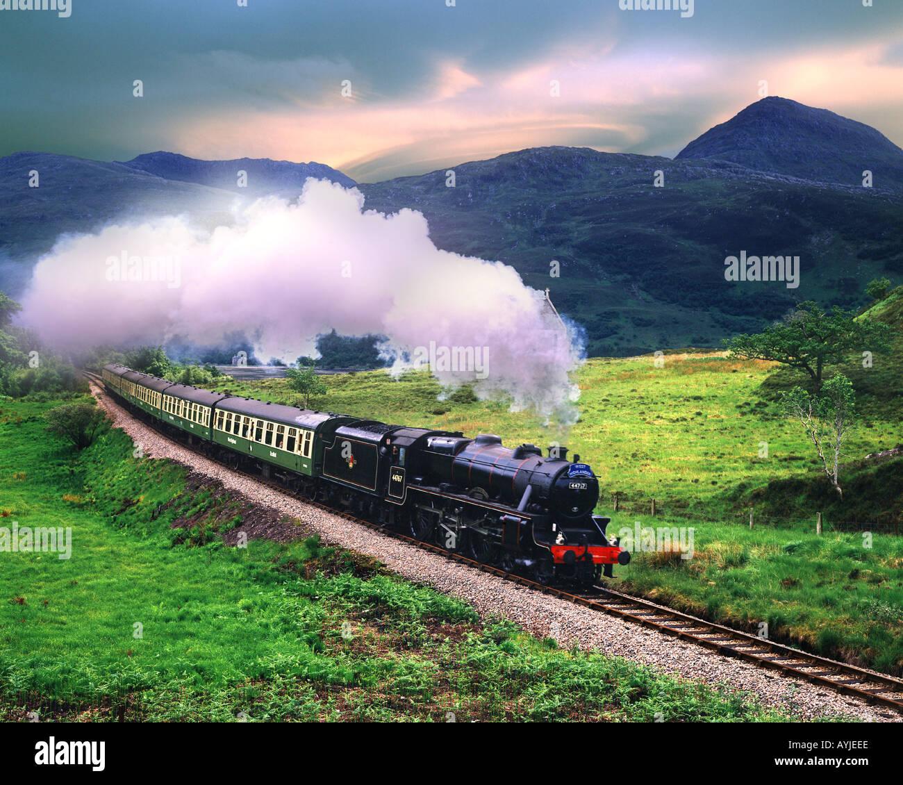 """GB - Schottland: """"Der Westen Highlander"""" Dampfzug Stockbild"""